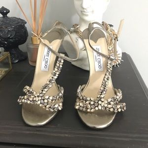 Authentic Jimmy Choo Crystal Sandals